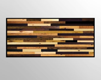 Modern Rustic Stained Reclaimed Wood Wall Sculpture - Modern Wood Wall Art - Abstract Wood Art