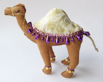 Felt Camel Decoration / Camel / Camel Ornament / Egyptian Decoration / Egyptian Party Favour / Nativity Decoration / Camels