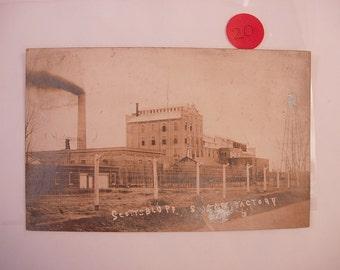 Vintage Photo Postcard RPPC 1914 of the ScottsBluff Sugar Factory