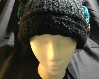 Crochet kitty ear hat