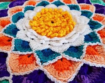 Crochet Flower Centre Piece