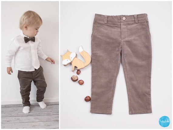 Baby boys trousers Chino pants suit Taufanzug ring wearer