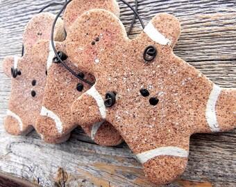Trendy Gingerbread Man Salt Dough Christmas Ornament