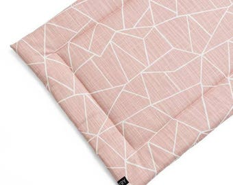Large Washable Dog Crate Mat. Millenial Pink Blush Portable Dog Bed  Puppy Pad. Modern Dog Travel Bed. Morganite dog bed.