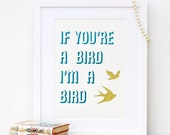 If You're A Bird I'm A Bird paper cut The Notebook Film Movie Quote