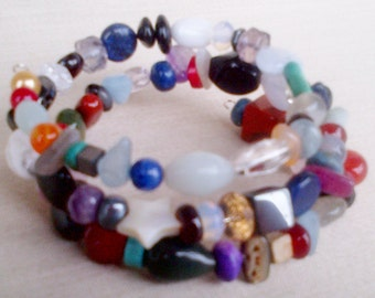 Bits and Bobs Memory Wire Bracelet