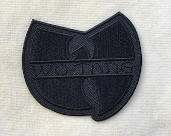 Wu Tang Clan Band Music Logo Iron On Patch #All Black