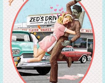 Zombie Love Giclee Art Print