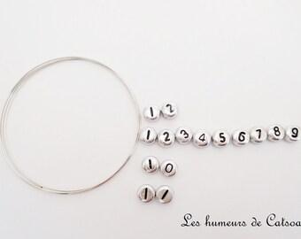 Kit  pour bracelet d'allaitement perles différents coloris +fil