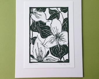 Trillium, letterpress print