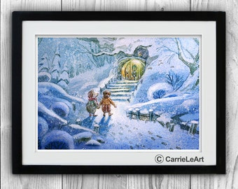 Wind in the Willows watercolor print.Wind in the Willows Print.Wind in the Willows Art.Wind in the Willow Wall Art.Wind in the Willow poster