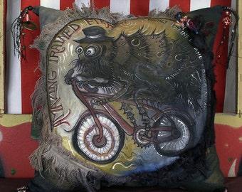 Flea Circus - decorator pillow