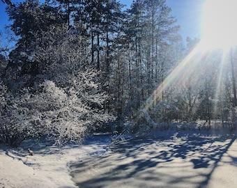 Frozen Lake - Original Photo Print by Kelly LaCour