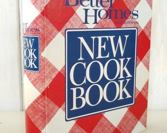 Better Homes and Gardens NEW COOK BOOK 1989 Revised Edition/Ring Bound File Tabs/Clean/Complete How To/Index/Color Photos/lindafrenchgallery
