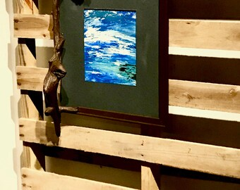 Custom Driftwood Frame and Original Painting