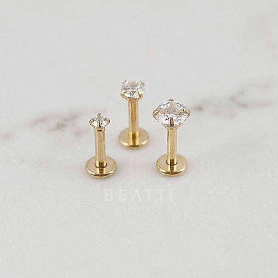 stud brushed ear earrings asian jewelry conch geometric surgical earring rose style gold barbell tragus product stainless cartilage labret piercing helix steel studs flat korean hiunni