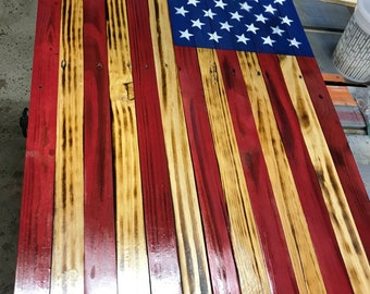 Large Toasted American Flag 37'' x 19.5''