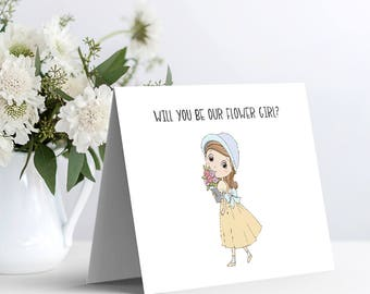 Printable Bridal Party Card - Will You Be Our Flower Girl?
