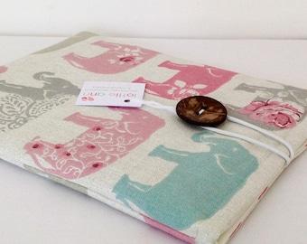 iPad Cover, Elephants iPad Cover, iPad Case, Tablet Cover, Tablet Case, Fabric iPad Cover, Fabric iPad Sleeve, Fabric iPad Case, Tablet Case