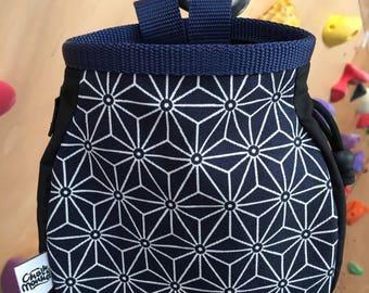 Blue Geometric print Chalk Bag