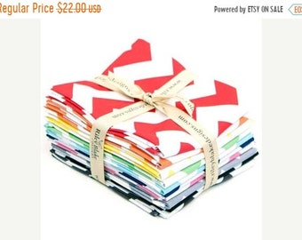 Summer Clearance Riley Blake Fabric - Chevron Fat Quarter Bundle