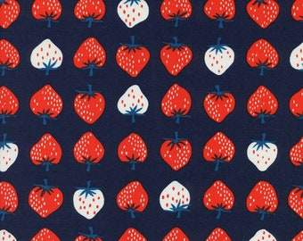Cotton + Steel Fabric, Strawberry, K3040-003 Red, Kim Kight, 100% Cotton