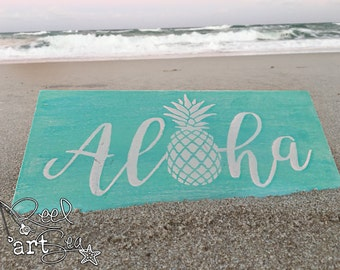 Aloha Sign | Pineapple | Beach Decor