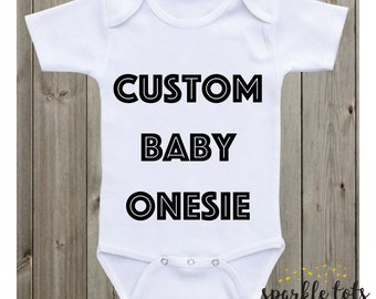 custom baby onesie, custom baby grow, custom baby clothes, personalised babygrow, baby gift, newborn baby outfit, personalised custom design