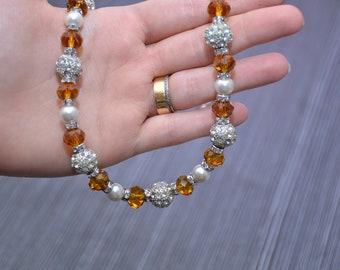 wedding necklace,bracelet and earing set