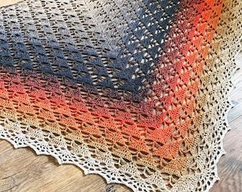 Crochet Shawl PDF Pattern Download - Wild Ginger