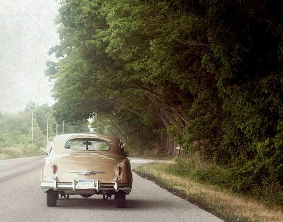 Fine Art Photo, 11x14, Classic Retro Car, Summer, Road Trip, Wall Art, Vintage Look Photography print