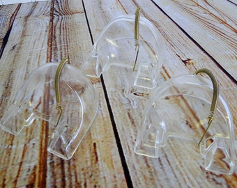Set of 3 / Clear Acrylic with Spring Hook / Tea Cup \u0026 Saucer / Dessert & Tea cup saucer plate   Etsy