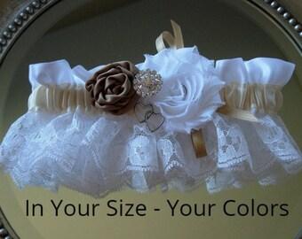 Wedding Garter, Vintage Wedding Garter, Lace Wedding Garter, Satin Wedding Garter, Shabby Chic Wedding Garter, Rhinestone Wedding Garter