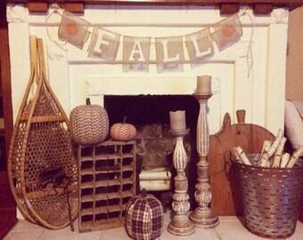 Farmhouse Fall Burlap Banner
