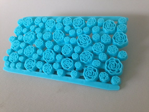 Rose Garden, Plastic imprint stamp texture is for polymer clay, Mokume stamp, cookies, fondant cake decorating