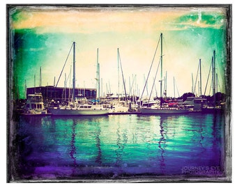 Vintage Harbor - fine art photo, Florida photograph, nautical decor, photo print, ocean photography