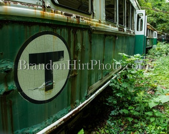 Boston T Trolley abandoned photography Rust old streetcar