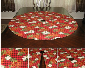 Xmas tree skirt Gold tree skirt Plaid tree skirt Red tree skirt Christmas tree skirt Poinsettia tree skirt Christmas decoration