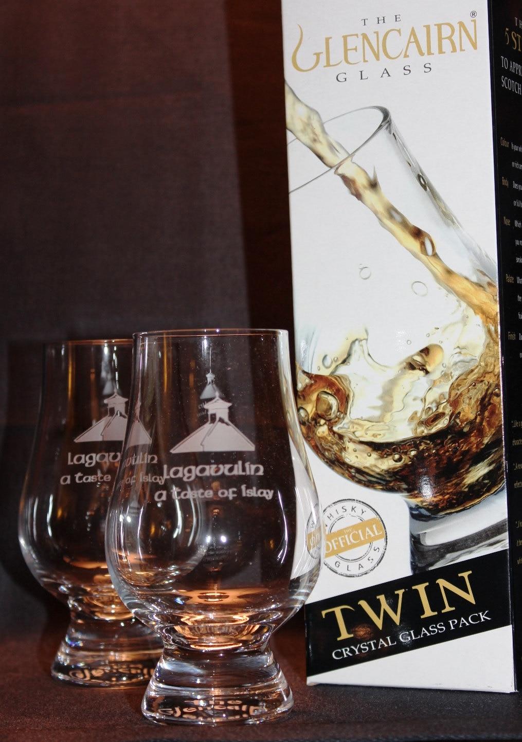 Vasos De Whisky Malta Lagavulin Pagoda Superior Twin Pack # Muebles Para Guardar Whisky