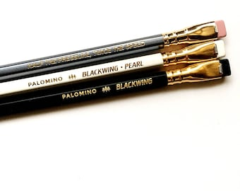 Palomino Blackwing Pencil, Blackwing 602, Blackwing Pearl, Blackwing Pencil, Set of 3, Blackwing Starter Kit, ready to ship