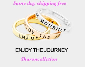 ENJOY THE JOURNEY - inspiration ring