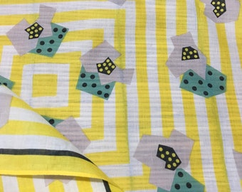 Dice pattern handkerchief, dice bandana, yellow color handkerchiefs, bandana handkerchief, bandana women