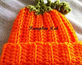 Newborn Crochet Pumpkin Hat