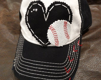 Bling Baseball Mom Hat