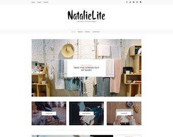 NatalieLite - A WordPress Blog Theme - Responsive WordPress Blog Theme - Feminine Wordpress Theme - Fashion Template - WordPress Blog Theme