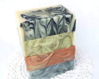 4-pack Essential Oil Soap Set | Natural Soap | Essential Oil Soap Quad | Handmade Soap | Vegan Soap |Heirloom Soap |
