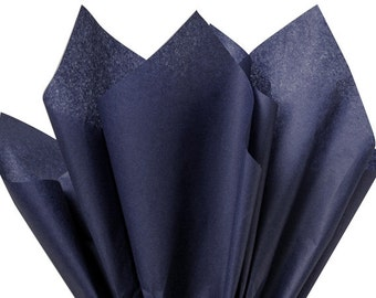 """NAVY BLUE Tissue Paper for Gift Wrapping 15""""x20"""" Solid Sheets (Your Choice of Quantity) Free Shipping!"""