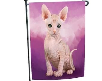 Sphynx Cat Garden Flag