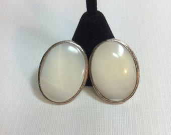 Vintage Mother Of Pearl Earrings