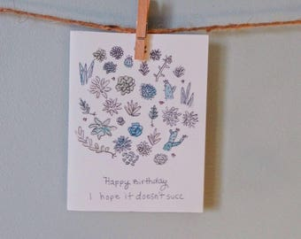Succulent Bday Card